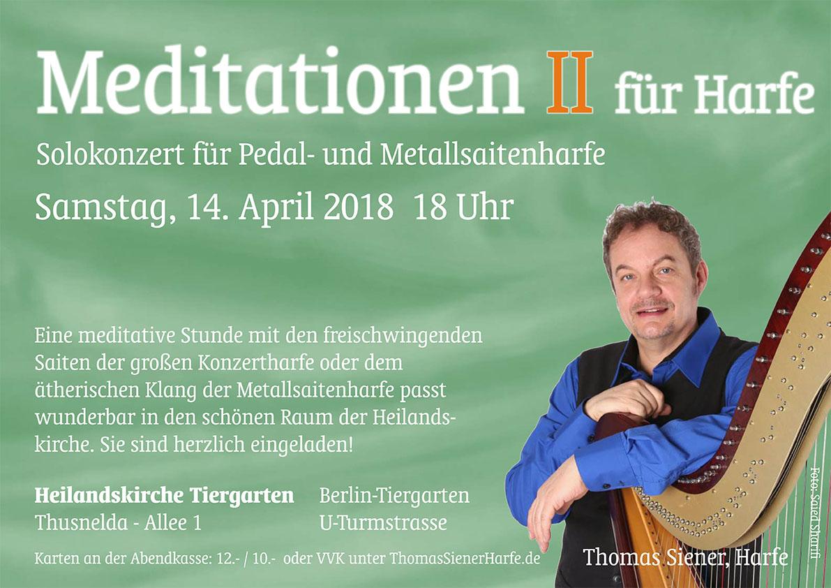 Meditationen II mit Kompositionen von Thomas Siener
